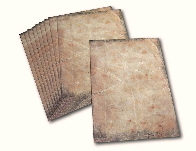 """Beidseitig. Briefpapier """"Victorian"""" Urkundenpapier von KleinesMau auf DaWanda.com"""