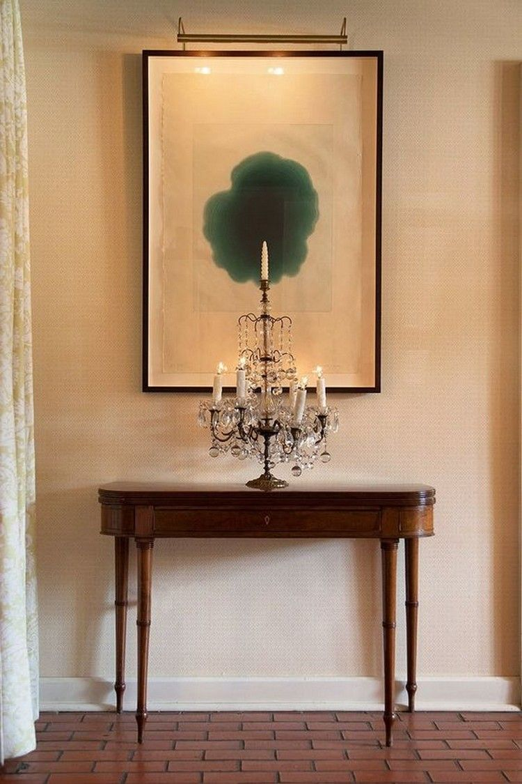 Amazing How To Display Artwork On Modern Console Table