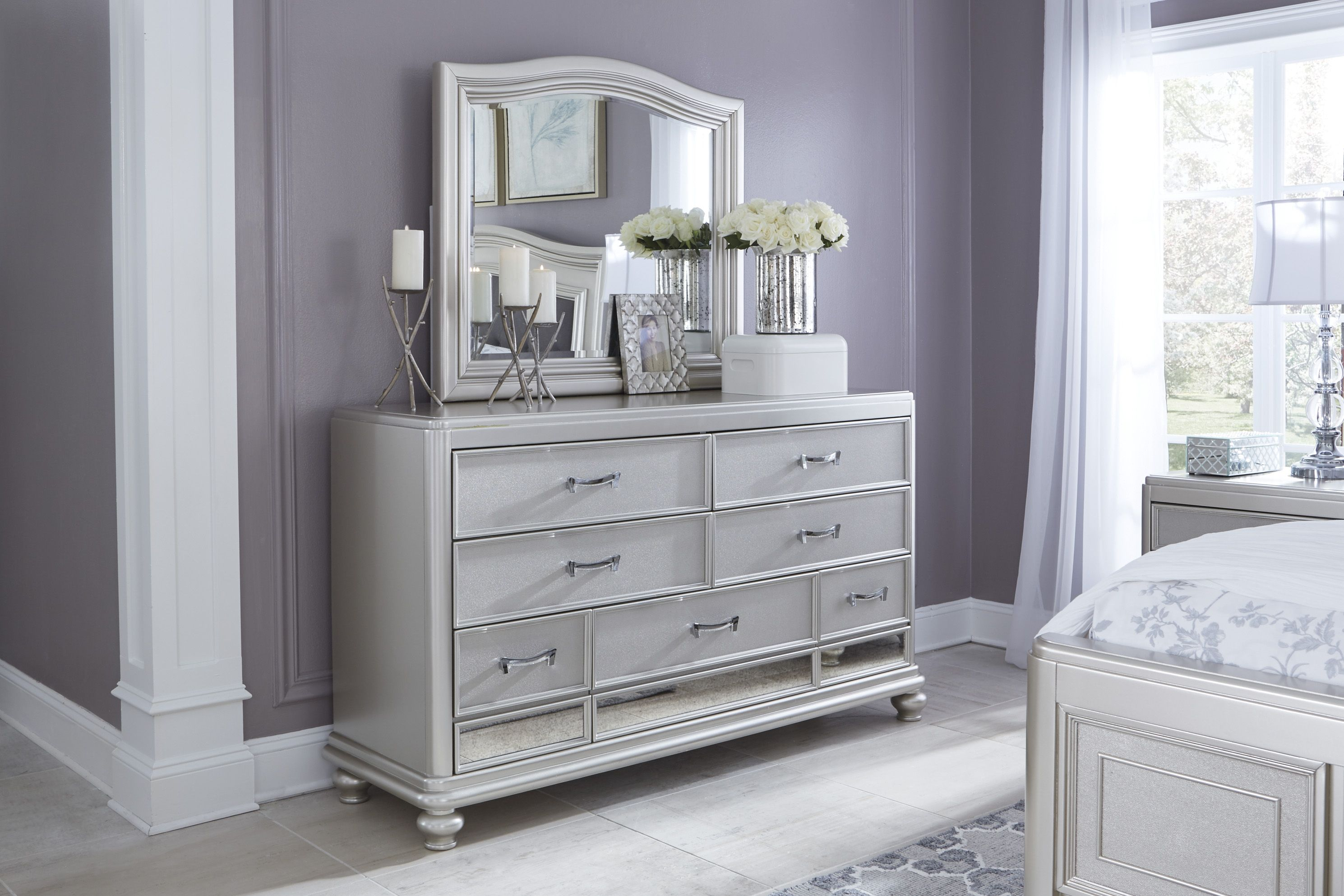 set samuel queen dresser product diva shagreen and bed by lawrence furniture includes one bedroom chest lingerie nightstand