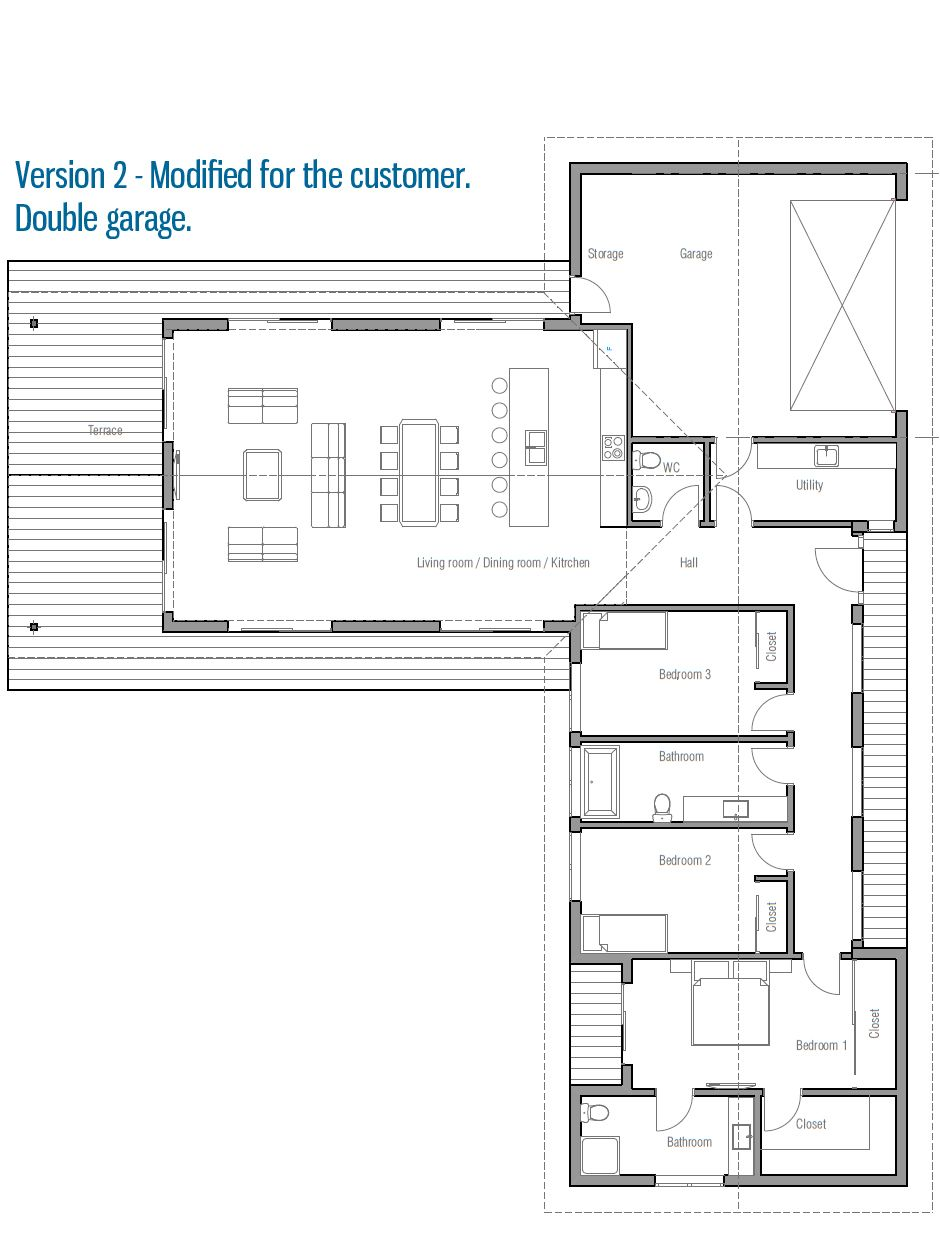 House Design House Plan Ch331 15 L Shaped House Plans L Shaped House House Floor Plans