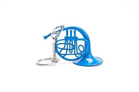 Porte-clés Cor d'harmonie bleu - Blue French Horn Ted Stole For Robin - Small Keychain- How I Met Your Mother:Amazon