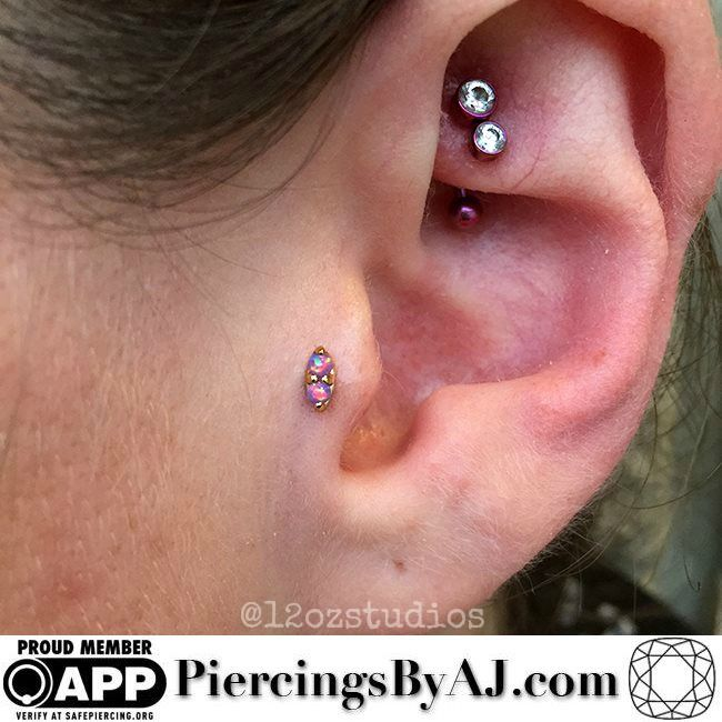 Tragus Piercing Gold Jewelry Most Popular and Best Image Jewelry
