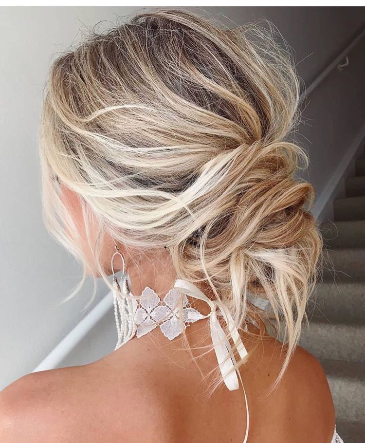 Romantic Updo Night Out Avedaibw Braided Hairstyles Updo Thick Hair Styles Medium Hair Styles