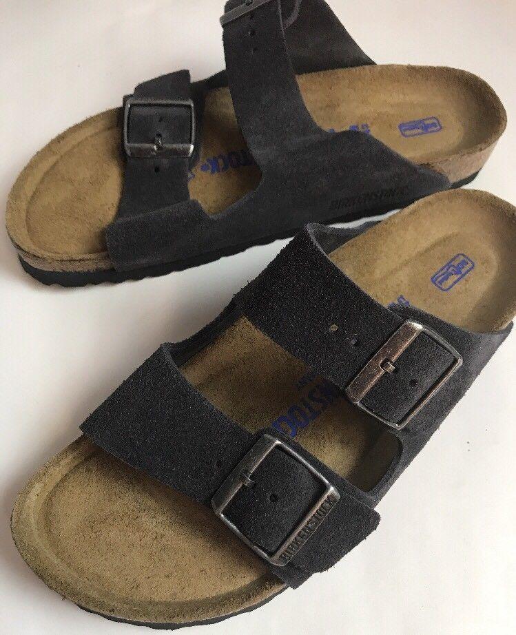 42f97432db4 Birkenstock Women s Arizona Velvet Gray Suede Sandals Velvet Gray 38 US 7 -  7.5  Birkenstock  Sandals