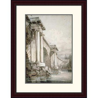 Global Gallery 'Old Blackfriars Bridge, London' by Joseph M.W. Turner Framed Painting Print Size:
