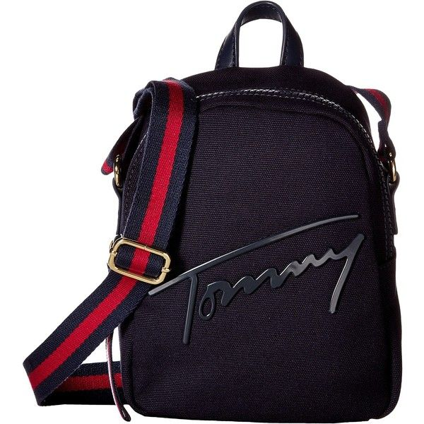 383eb38187d Tommy Hilfiger Tommy Script Mini Crossbody Backpack Canvas (Tommy ...