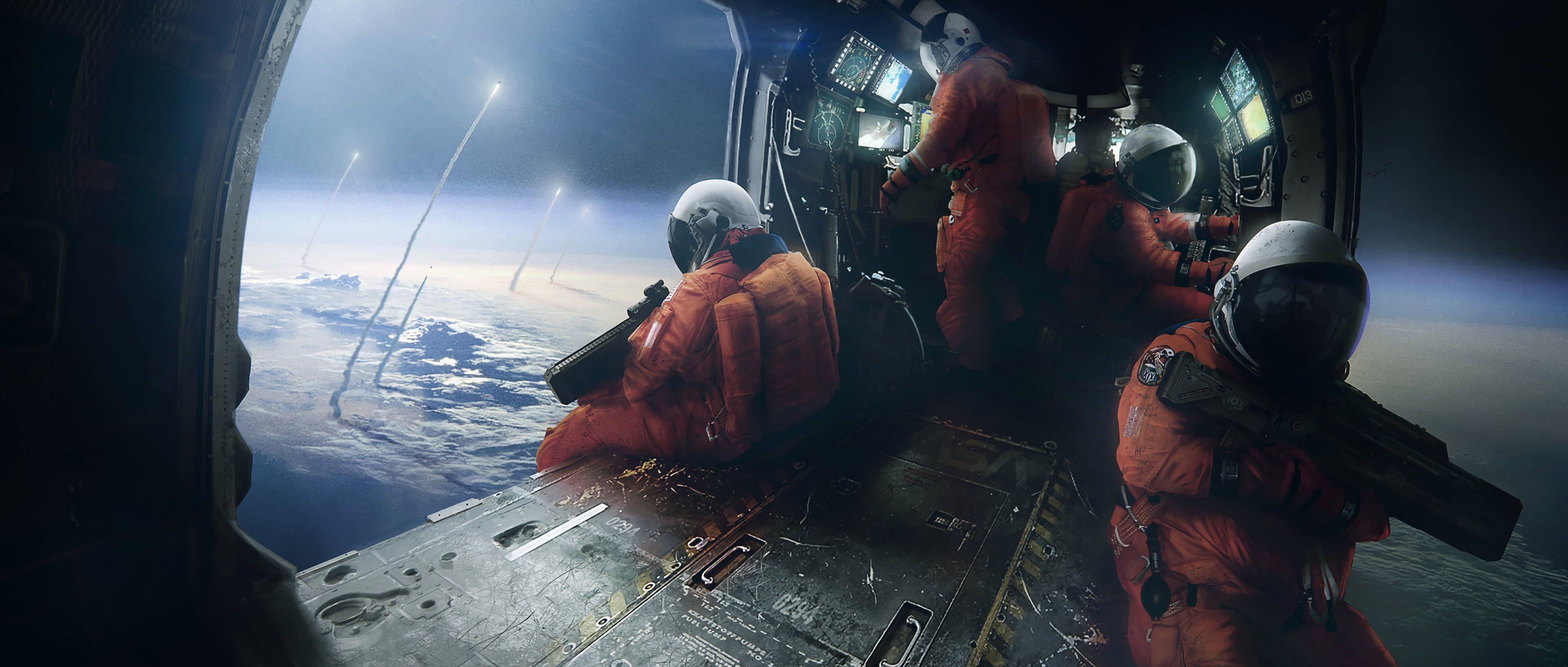 Astronauts Wallpaper Science Fiction Space 4k Wallpaper Hdwallpaper Desktop In 2020 Digital Painting Astronaut Wallpaper Painting Inspiration