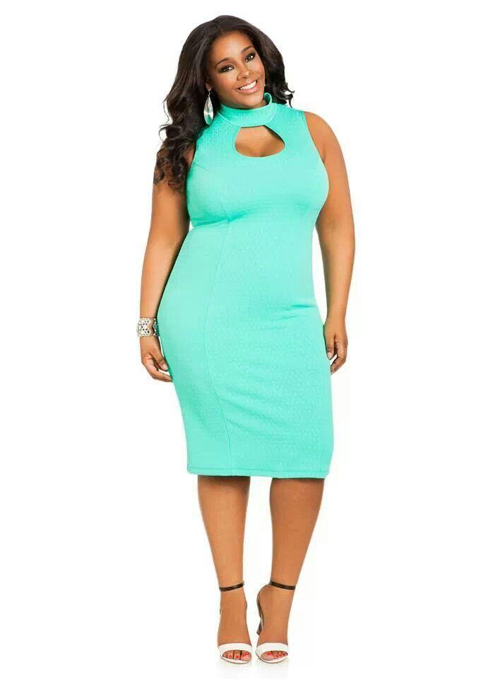 cut out keyhole plus size dress #unique_womens_fashion http