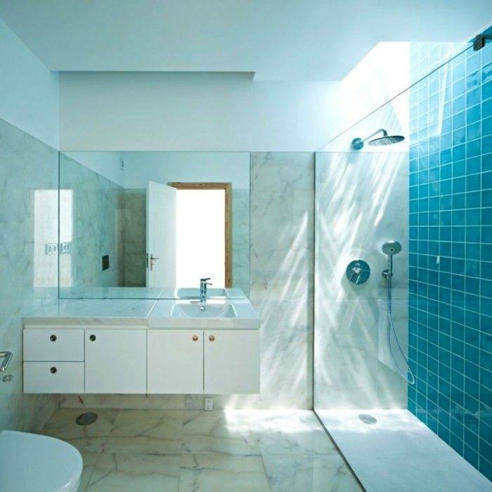 Badezimmereinrichtung Trends farbige Fliese badezimmer
