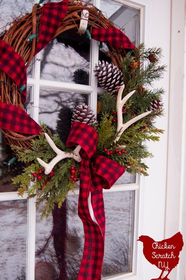 DIY Farmhouse Christmas Wreath Christmas wreaths