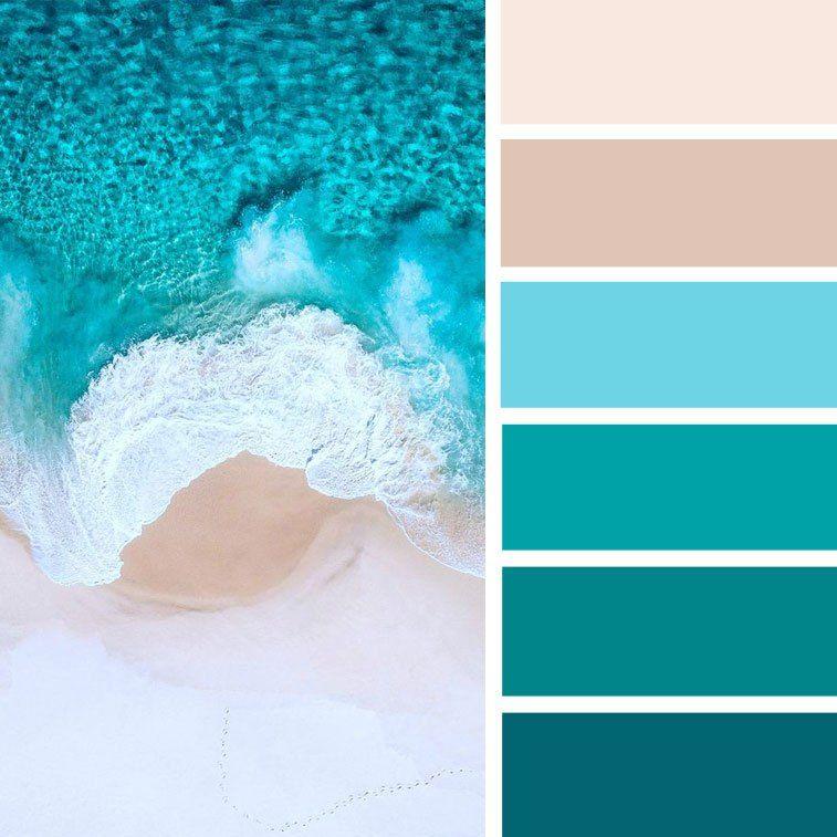 голубой и лазурный цвета знать