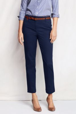 I have two pairs of these pants in bright blue and magenta. Want/need black and navy. Love the true ankle fit.