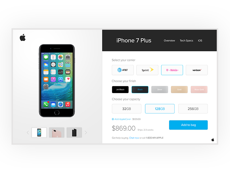 Apple Shopping UI | Mobile UI Examples | Apple shop, Apple
