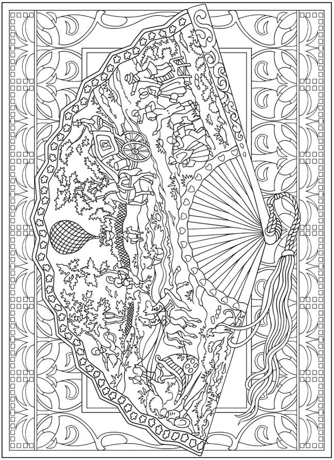 Coloring for adults - Kleuren voor volwassenen | Malbuch | Pinterest ...