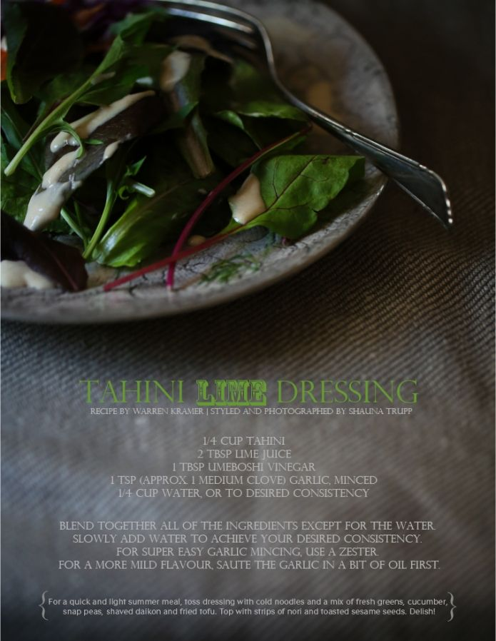 tahini lime dressing recipe - She Cooks Macro