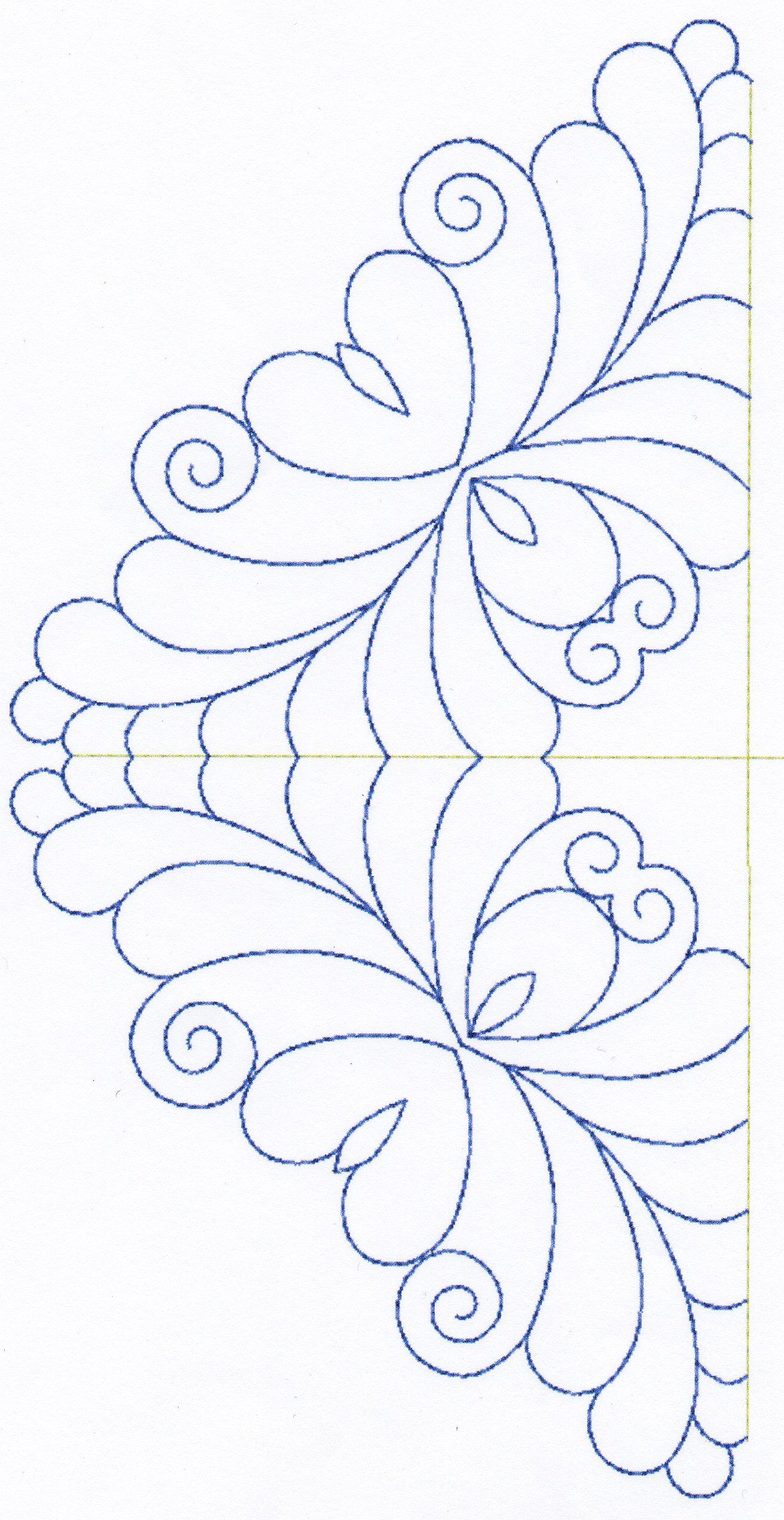 Feather Quilting Designs Set 6 | stepelő minták | Pinterest ... : feather quilting designs - Adamdwight.com