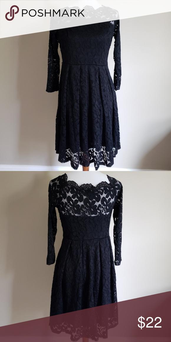 Miusol Black Lace Dress Black Lace Dress 23 Sleeves Side