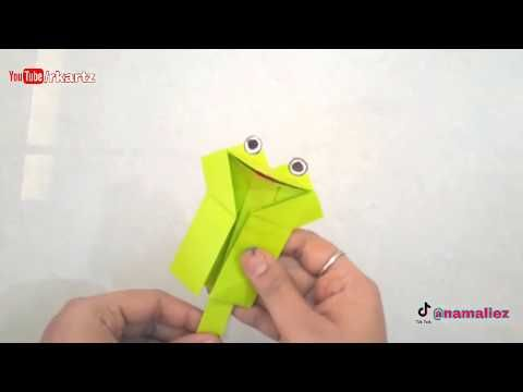 Photo of How to make talking puppet | talking paper frog | Puppet Frog origami | Talking paper frog puppet