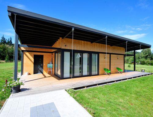 maison bois plain pied veranda | maison | Pinterest | Verandas and Loft