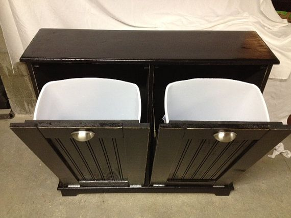 Solid Pine Garbage Can, Trash Bin, Recycling Bin, Storage Bin. $250.00,