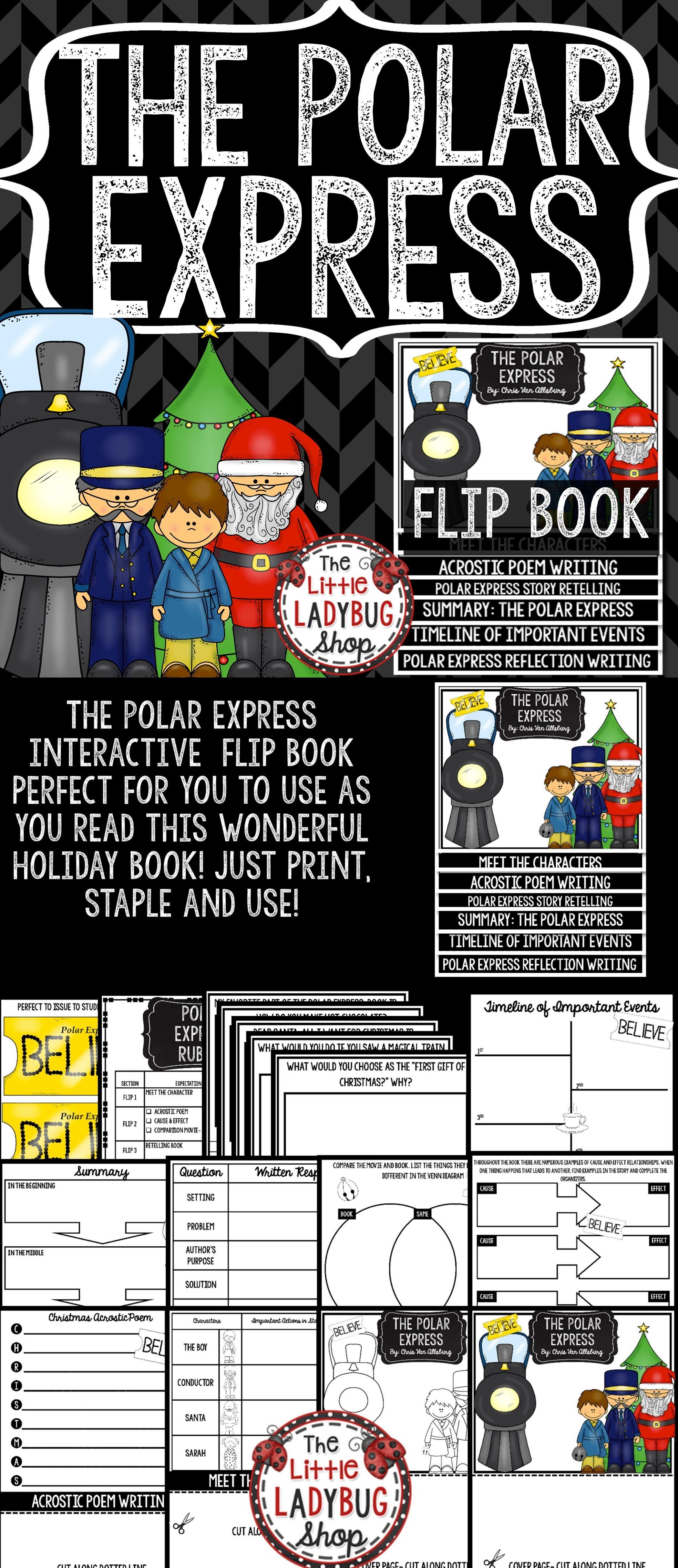 The Polar Express Activities Christmas Reading Activity