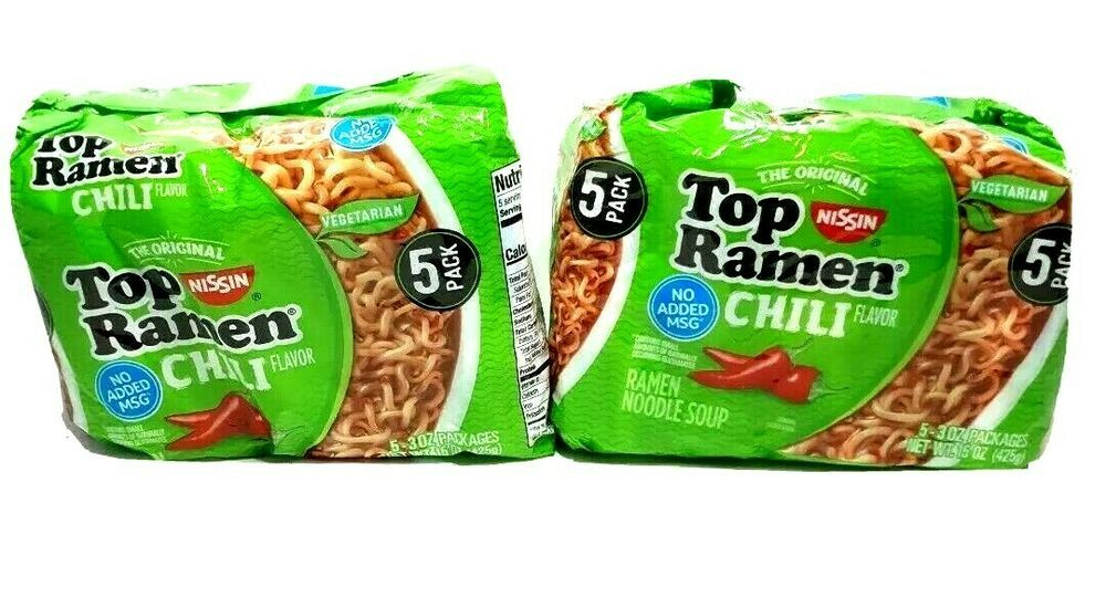Best Instant Ramen 2021 Top Ramen Chili Flavor Nissan Noodle 2 Packages of 5 Pack Soup