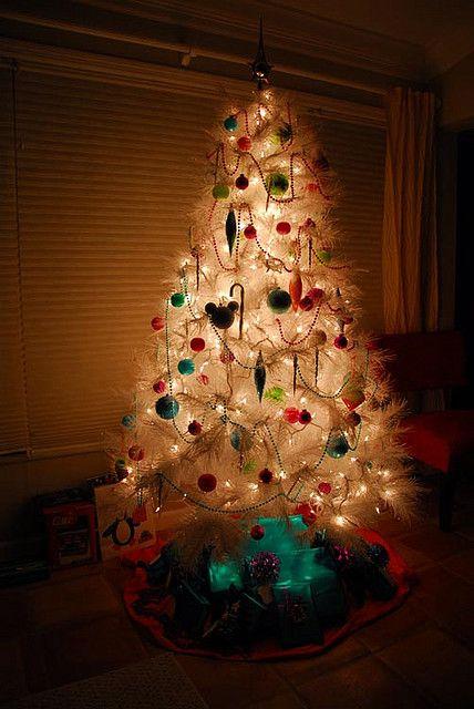 white christmas tree Christmas tree and Christmas holidays