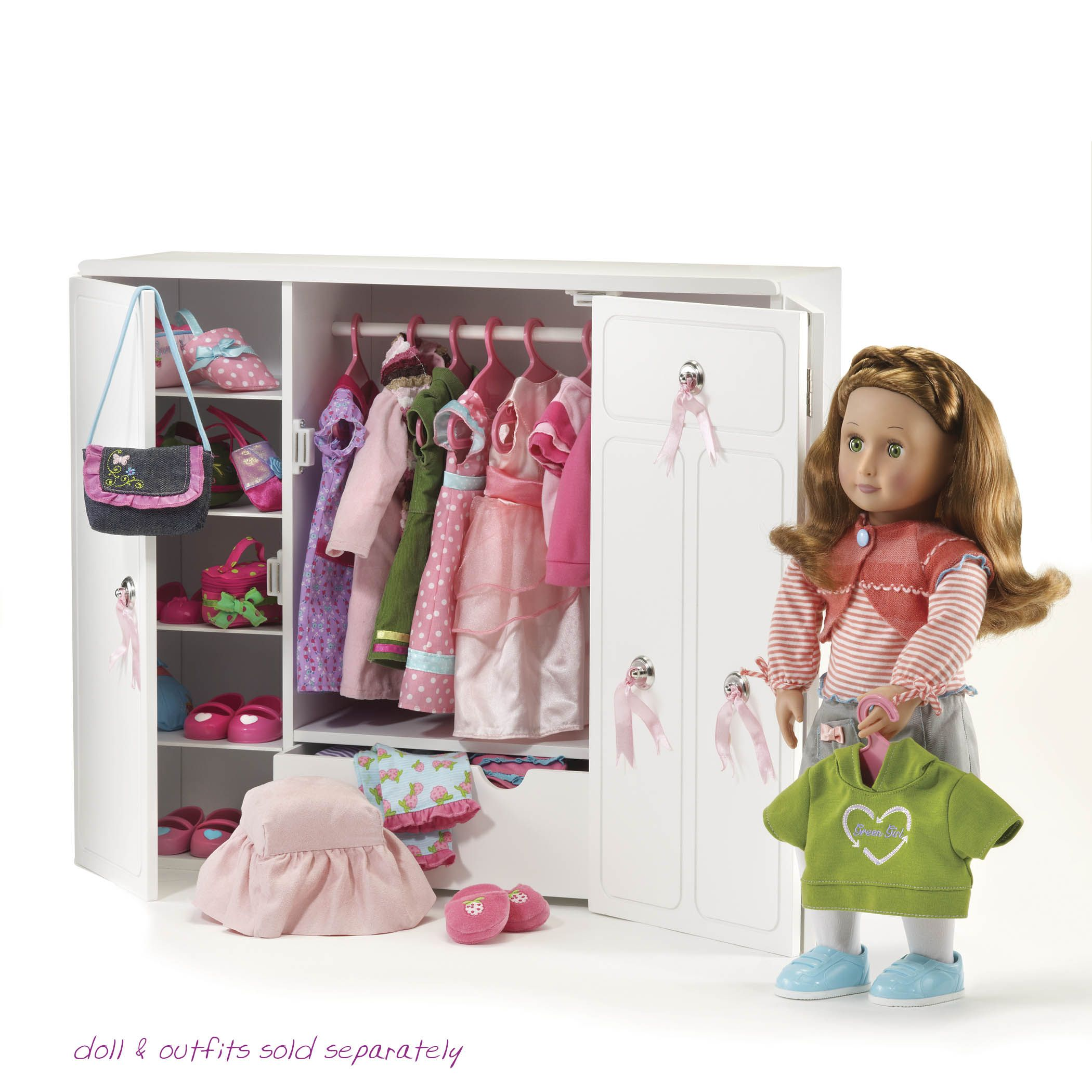 Our Generation wooden wardrobe Dolls. Pinterest