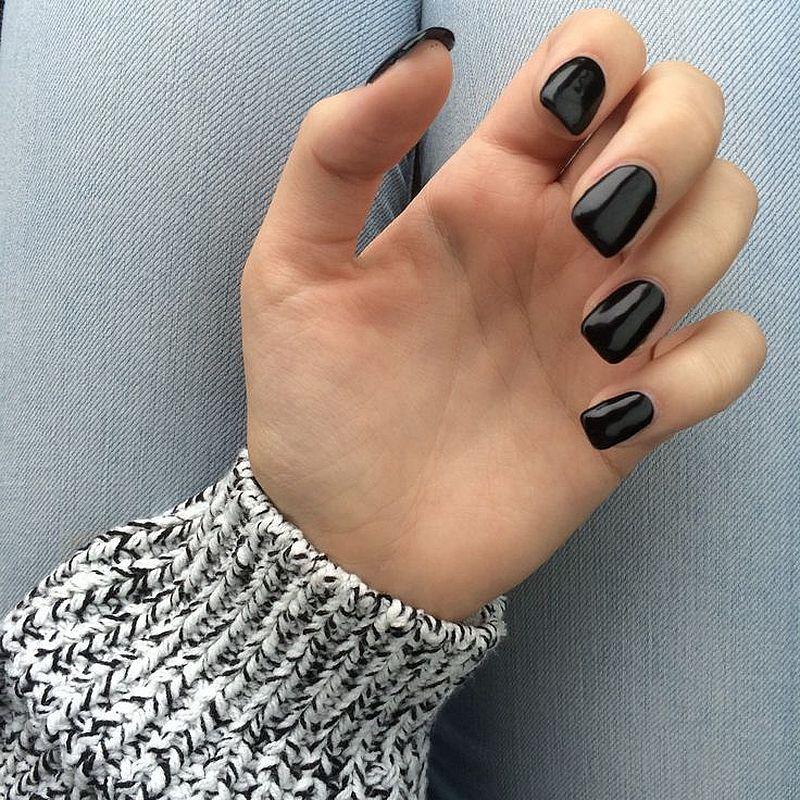 130 beautiful black acrylic nails design ideas black acrylic 130 beautiful black acrylic nails design ideas prinsesfo Gallery