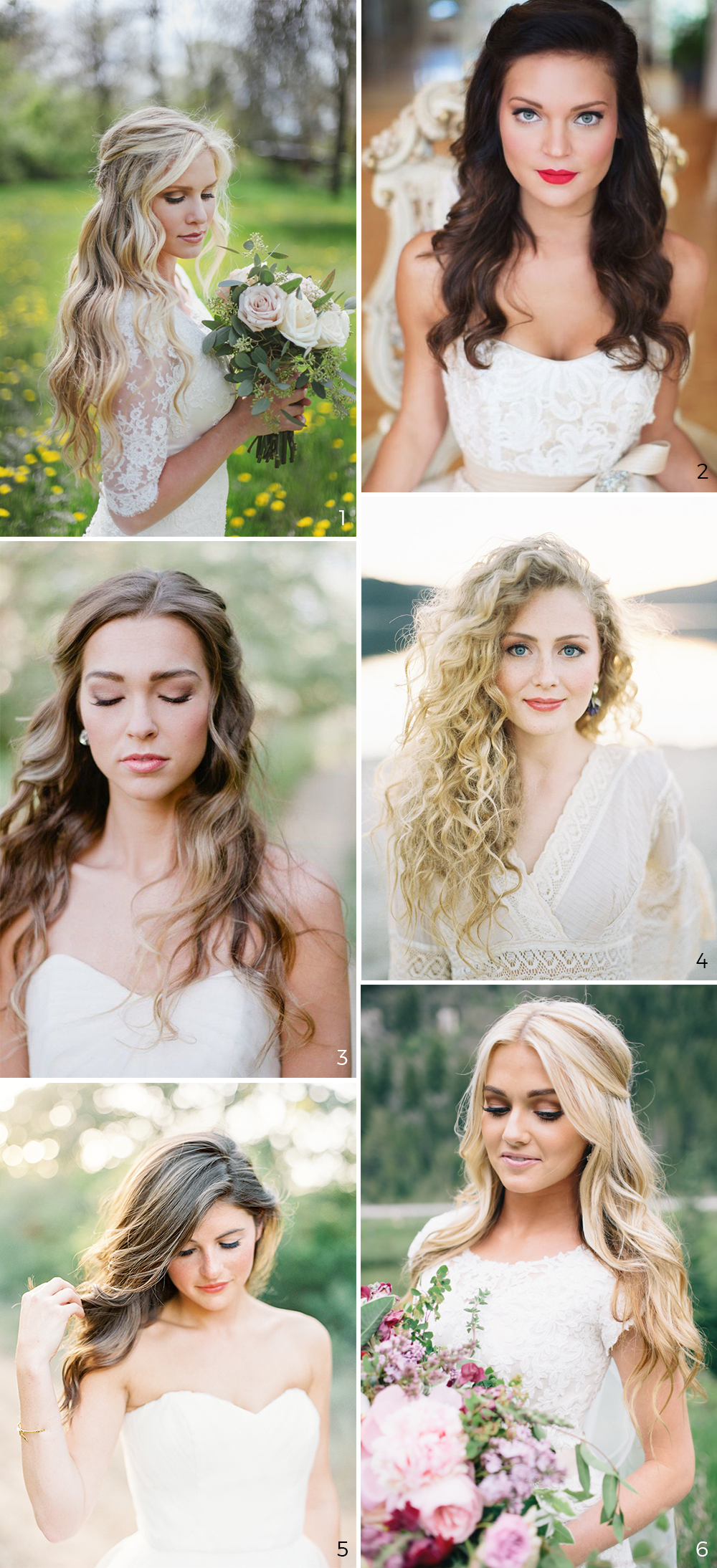 wedding hairstyles unavoidable trend #2: wear your hair down | hair