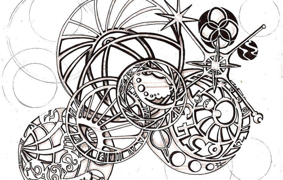 Astronomical Clock Tattoo: Astronomical Clock Tattoo Design