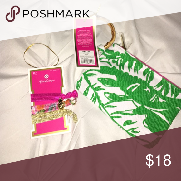 Lilly for target clutch and hair ties Brand new with tags! Lilly Pulitzer  for Target e287ff6693f