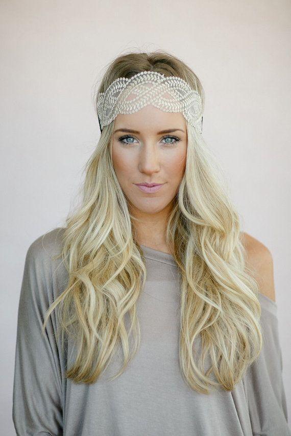 braided mesh headband fashion