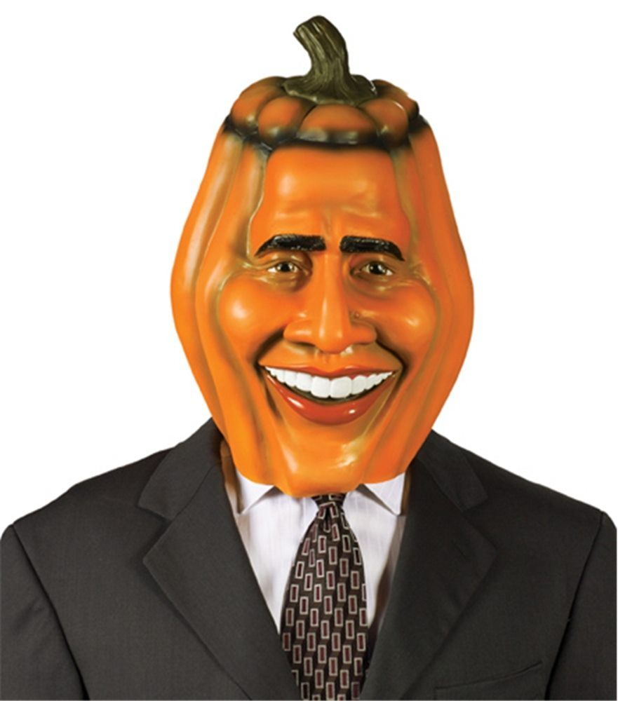 pumpkin head obama mask | accessories in 2018 | pinterest