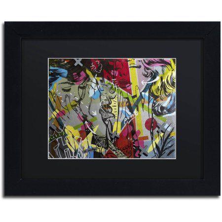 Trademark Fine Art This is Only Canvas Art by Dan Monteavaro Black Matte, Black Frame, Size: 11 x 14