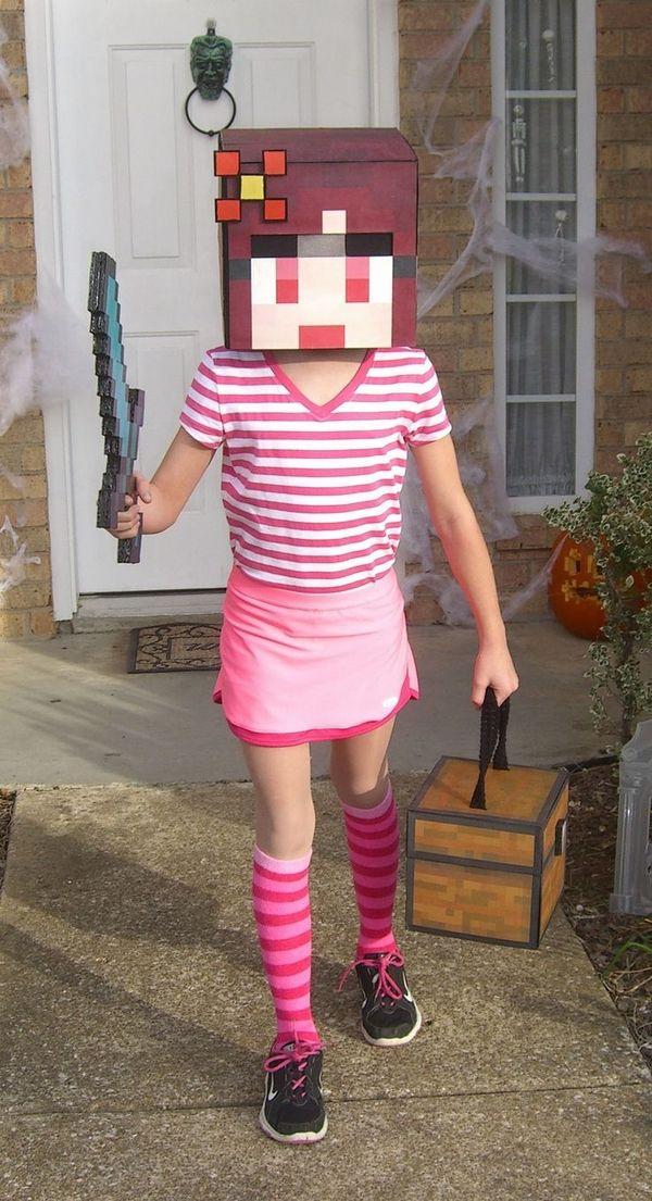 Girl in Snowman Costume Minecraft Skin