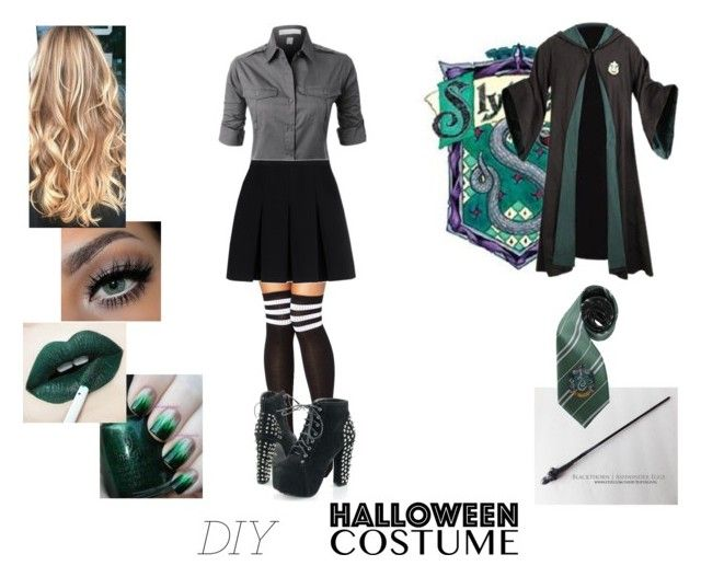 """Untitled #599"" by undeaddemon18 ❤ liked on Polyvore featuring Alexander Wang, Halloween, harrypotter, halloweencostume and DIYHalloween"