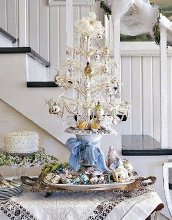 Classic Impressive Wonderful Lovely Christmas Tree Decoration - white christmas tree decorations