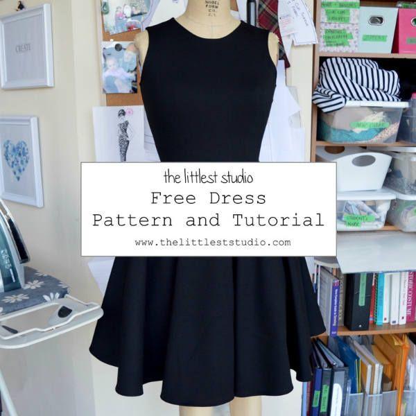 Patron gratuit : petite robe noir en jersey | Carnavales, Patrones y ...