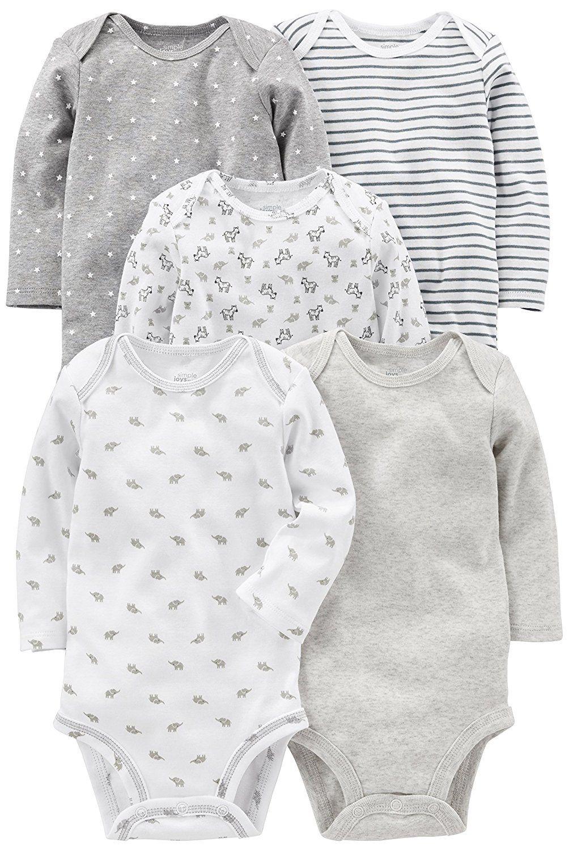 Amazon simple joys by carterus baby pack longsleeve bodysuit