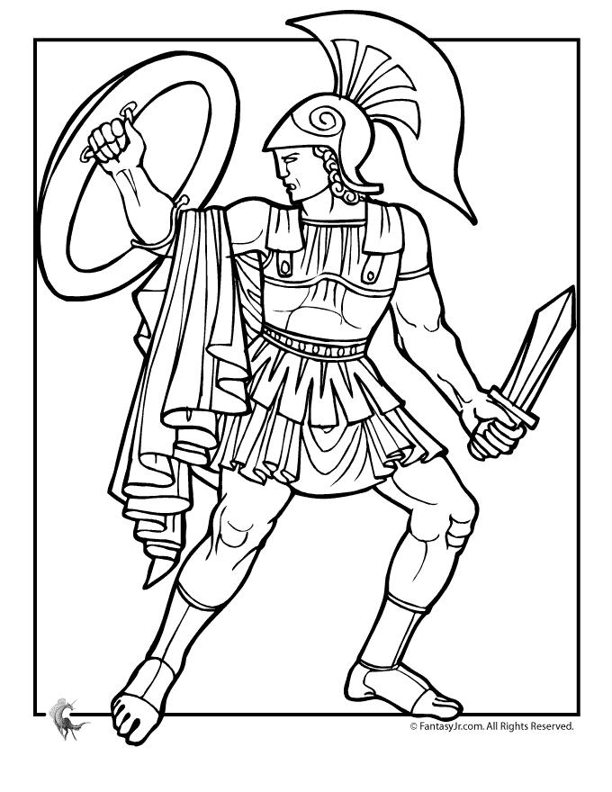 Greek Myths Coloring Page Achilles Greek Mythology Gods