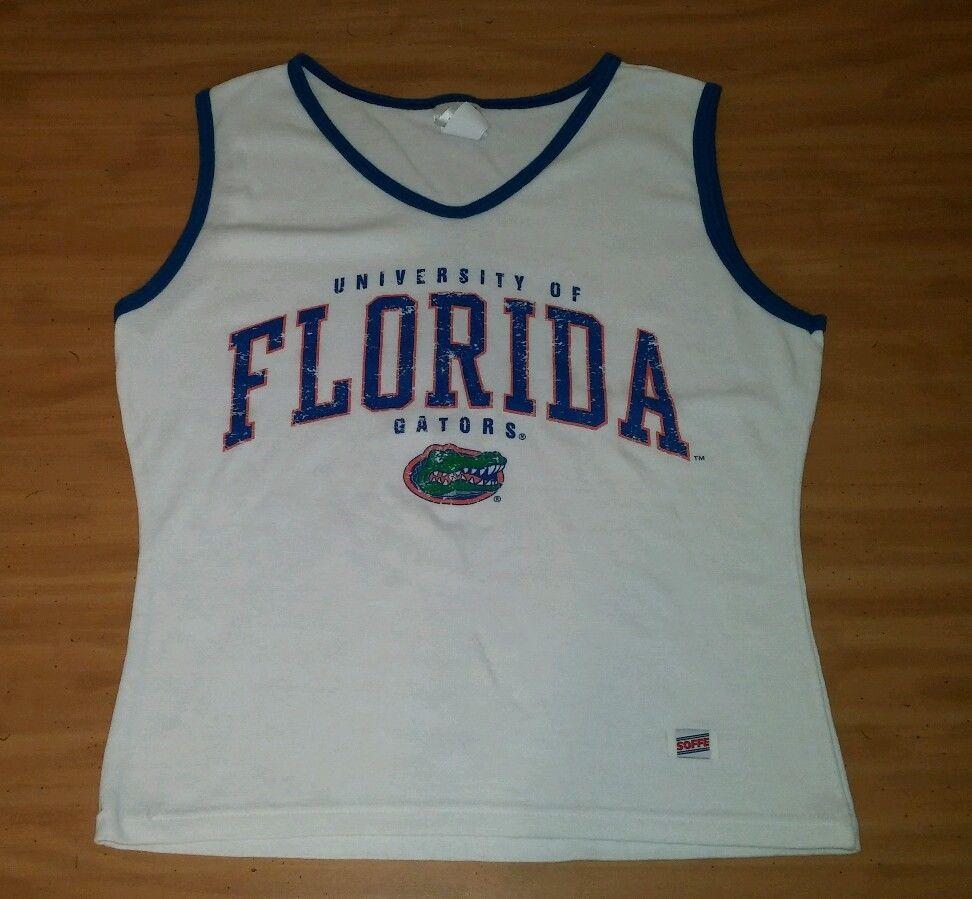 f2e153ad7e4e6b NCAA Football Florida Gators UF Tank Top Size XL Soffe Brand White  Soffe   TankCami  Casual
