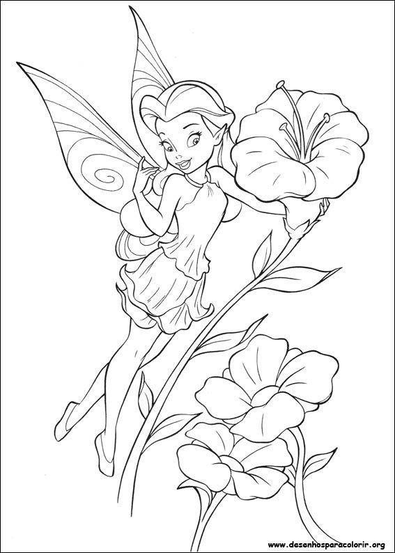 Desenho Para Imprimir Com Imagens Paginas De Fadas Para
