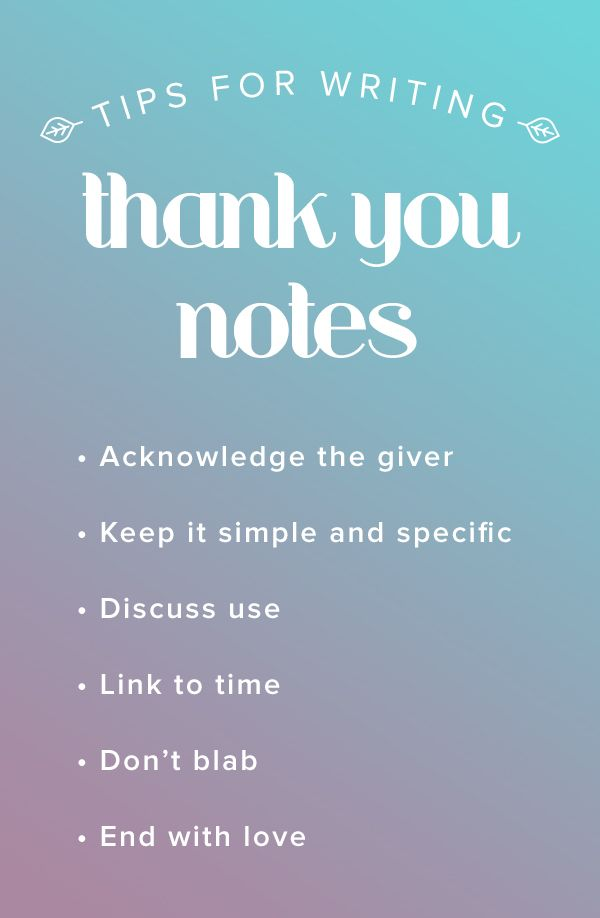 Dont Forget To Say Thanks 6 Tips For Writing A Thank You Note