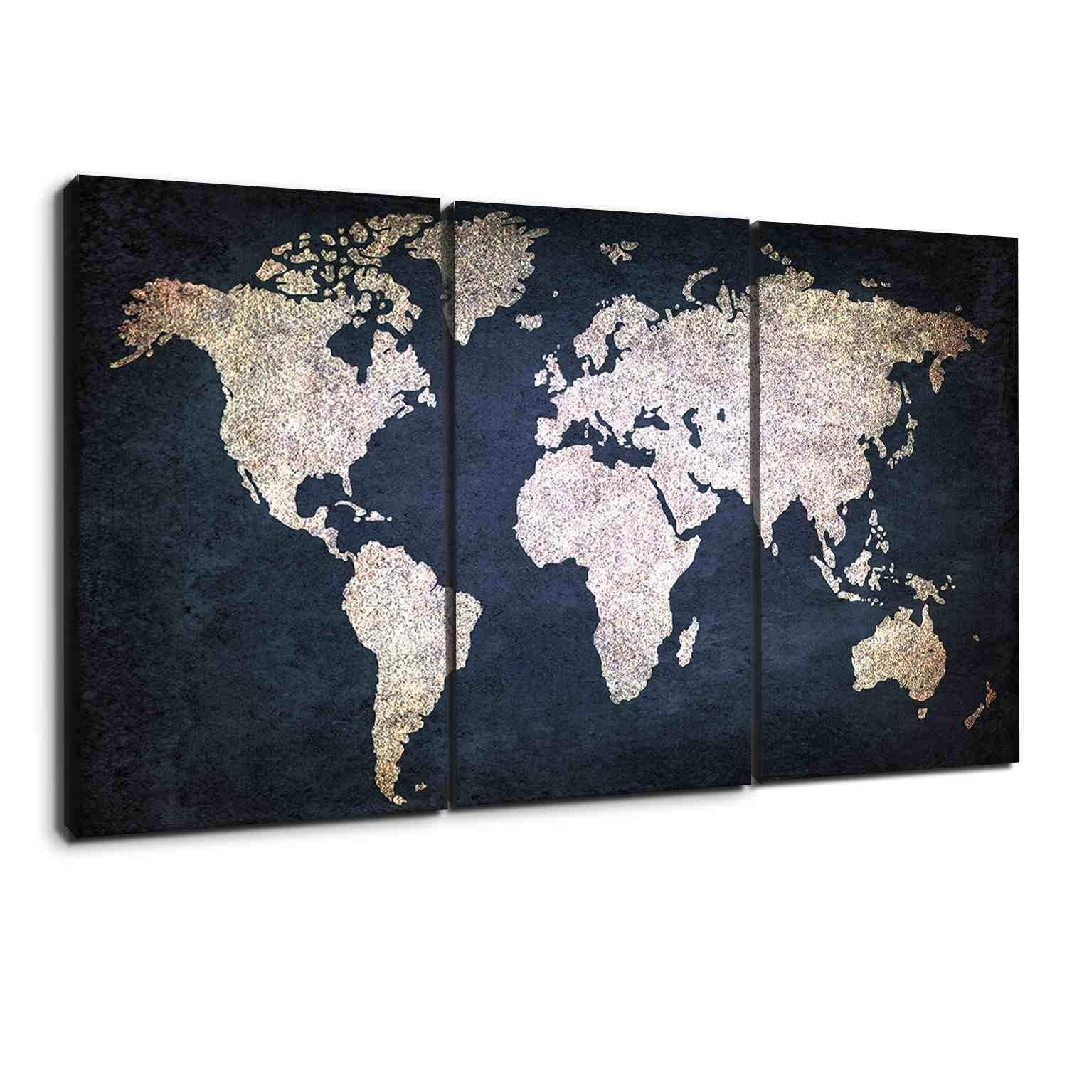 Navy blue and beige world map canvas map canvas canvases and free navy blue and beige world map canvas gumiabroncs Image collections