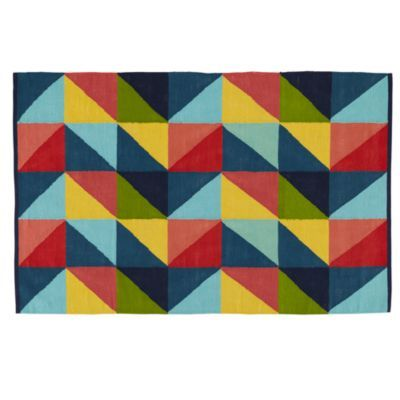 Prism Rug The Land Of Nod 100 Cotton The Boy S Room