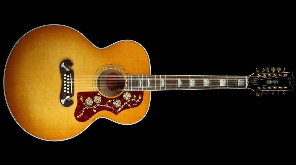 gibson sj 200 12 string acoustic electric guitar heritage cherry bonitos instrumentos. Black Bedroom Furniture Sets. Home Design Ideas