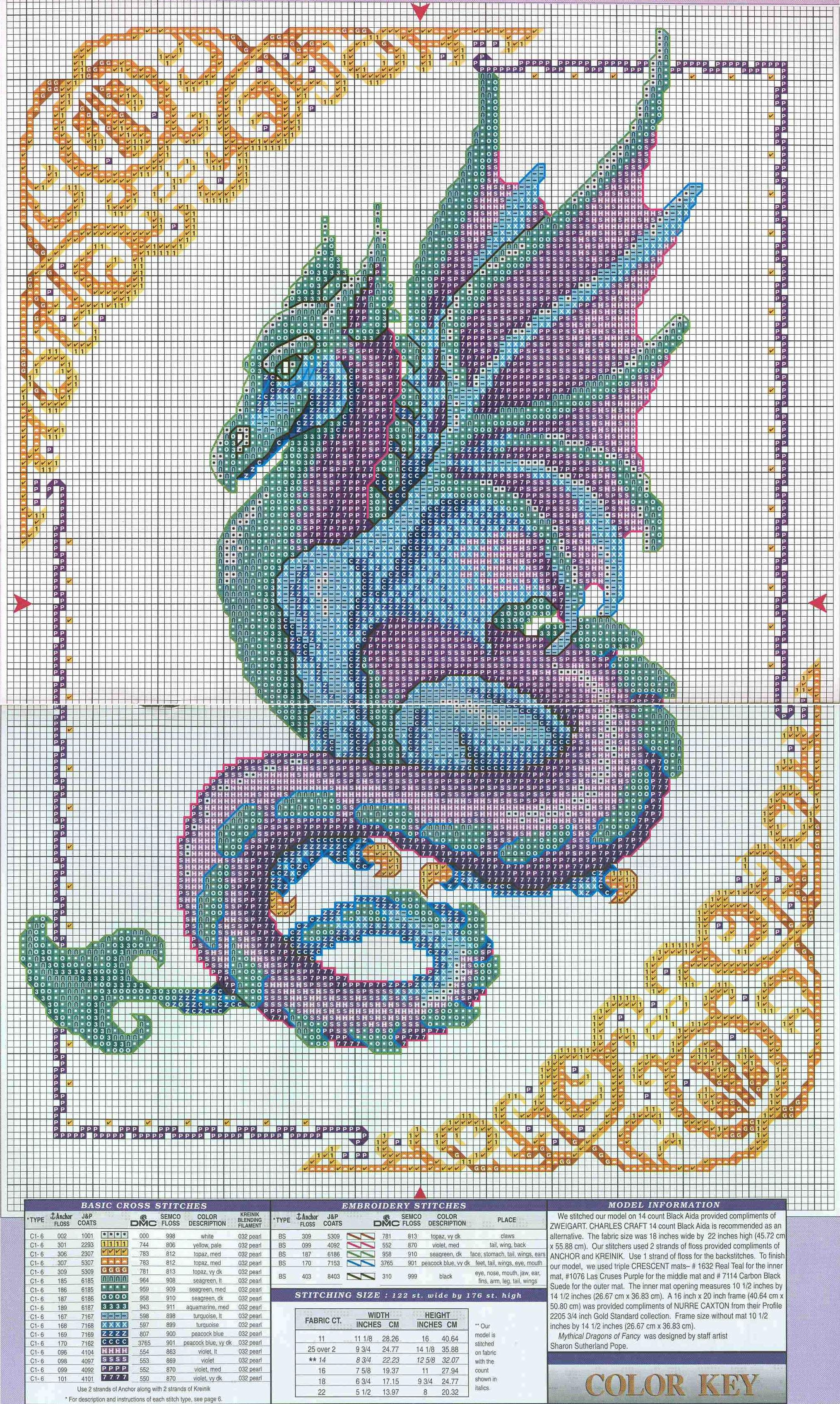 Вышивка крестом дракон схема фото 928