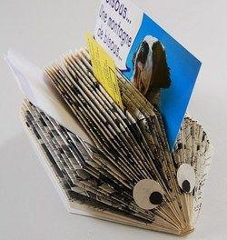 Comment Faire Un Herisson En Papier Livres Papiers Plies