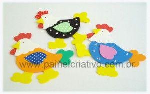 eva molde decoración de pollo cocina (3)
